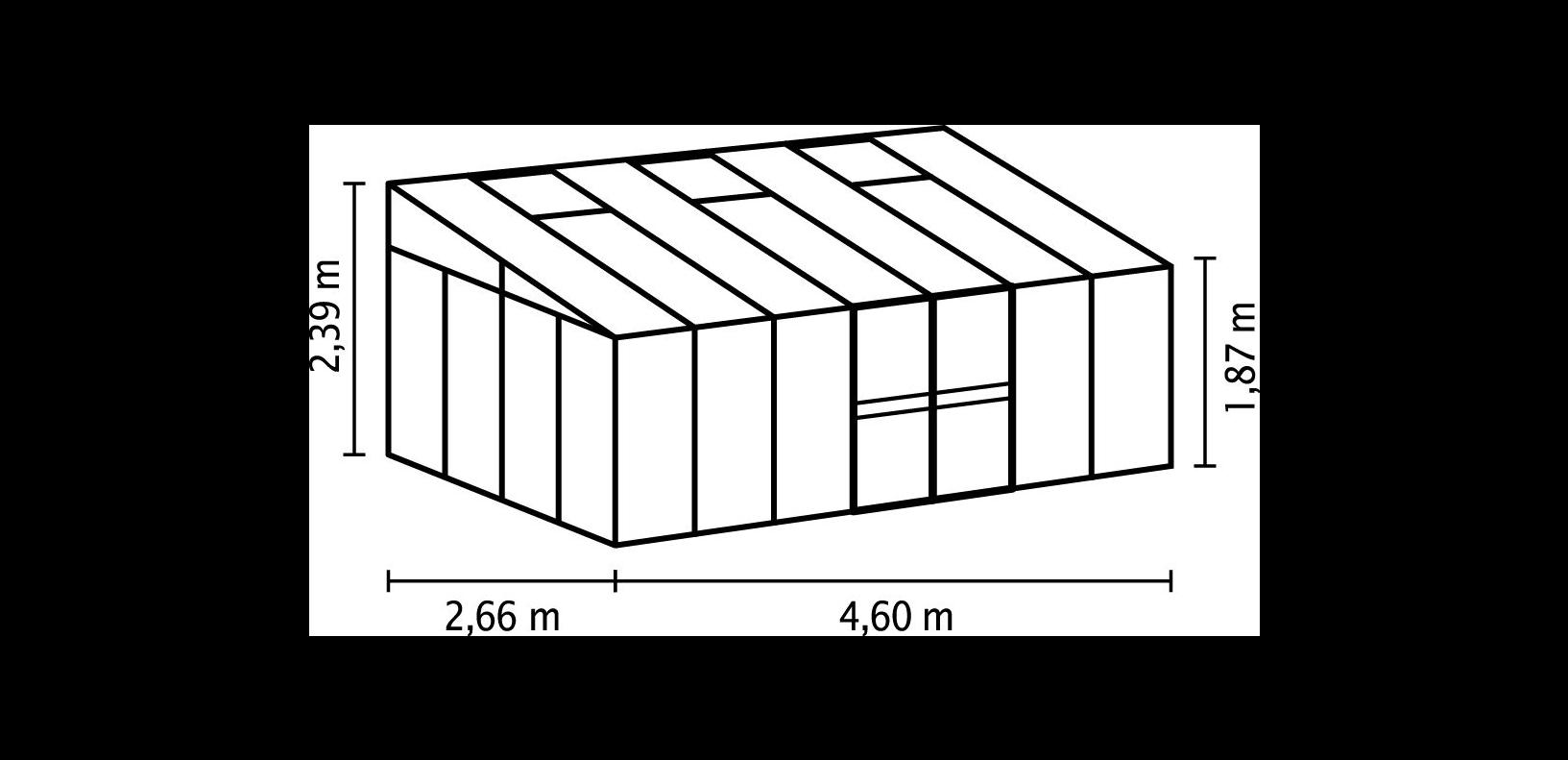 Vitavia-Gewaechshaus-Helena-6-9-m-11-9-m-Gartenhaus-Aluminium-Dachfenster Indexbild 4