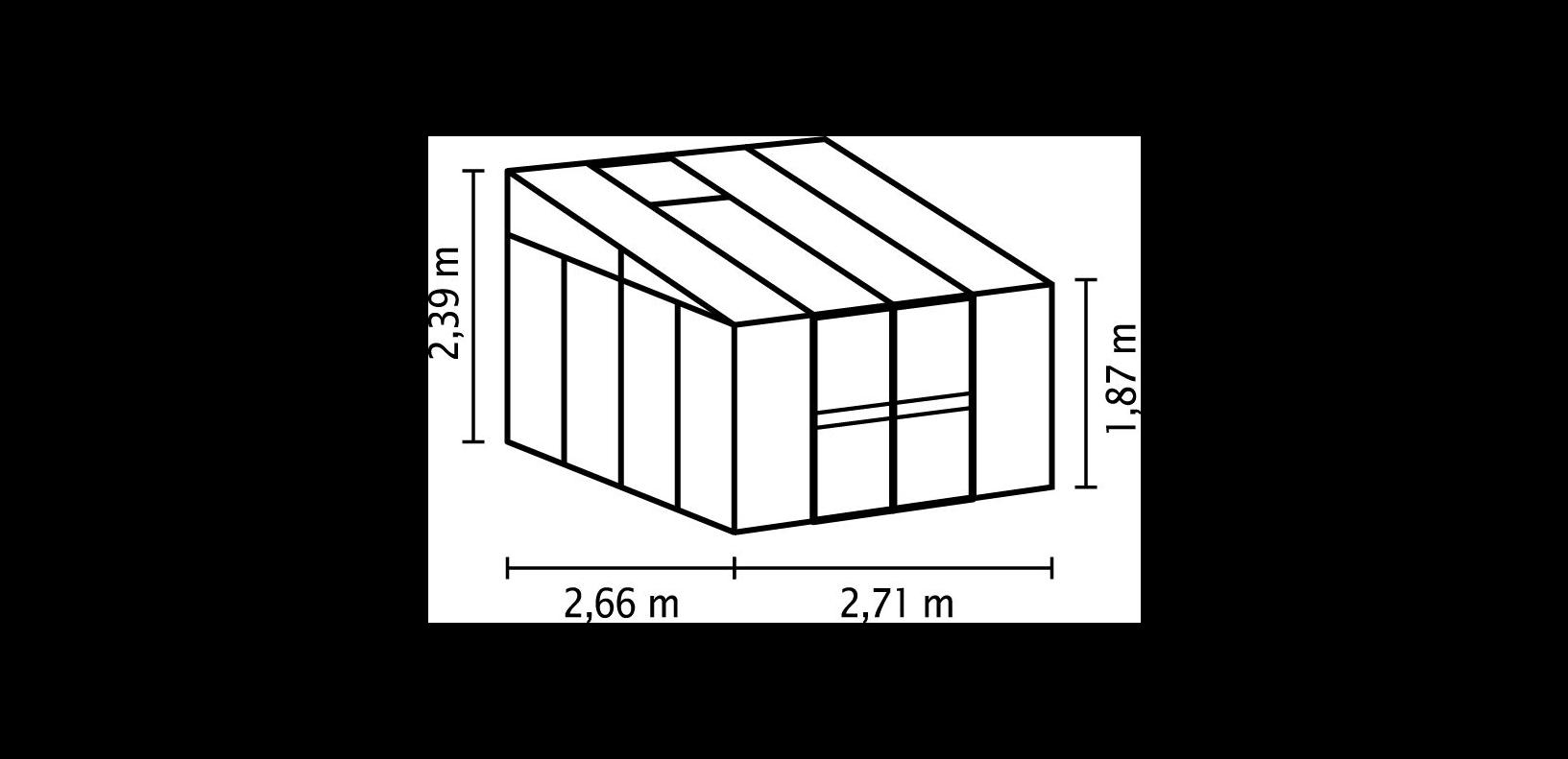 Vitavia-Gewaechshaus-Helena-6-9-m-11-9-m-Gartenhaus-Aluminium-Dachfenster Indexbild 8