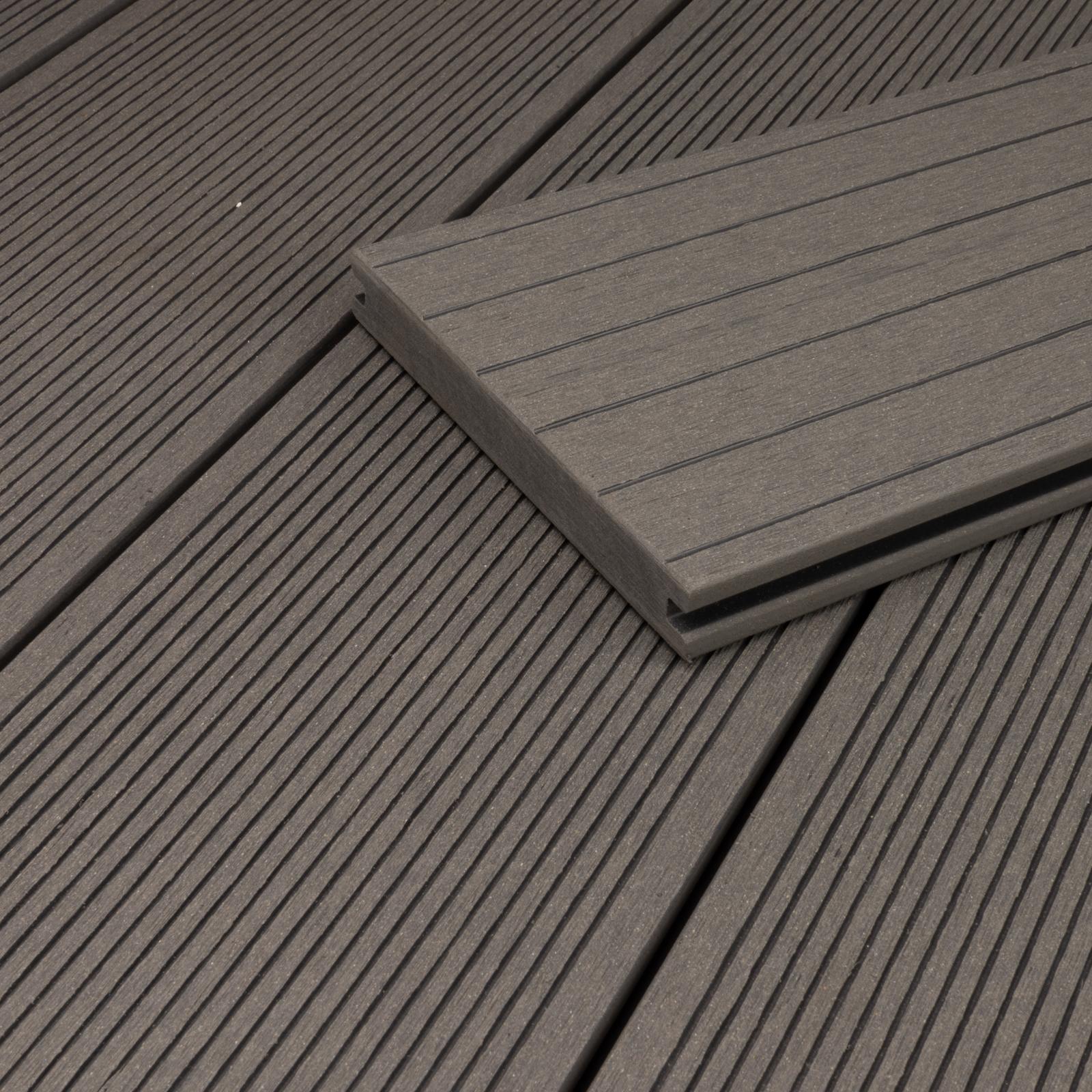 15 m² BPC Terrassendielen 2,90m Grau Terrassenholz Terrassendeck Dielen Holz WPC