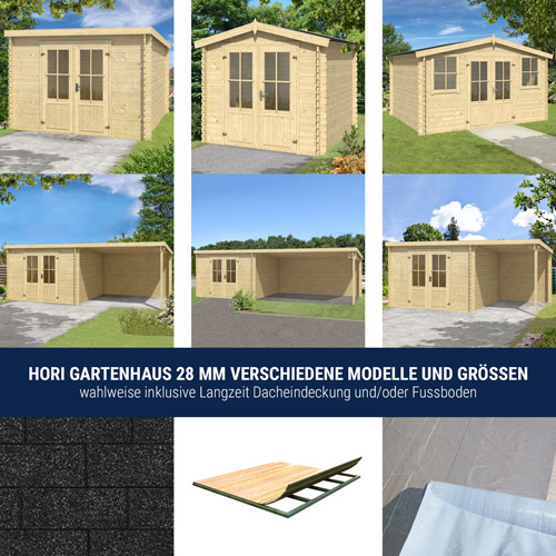 hori gartenhaus holzhaus ger tehaus schuppen l kken inklusive zubeh r ebay. Black Bedroom Furniture Sets. Home Design Ideas