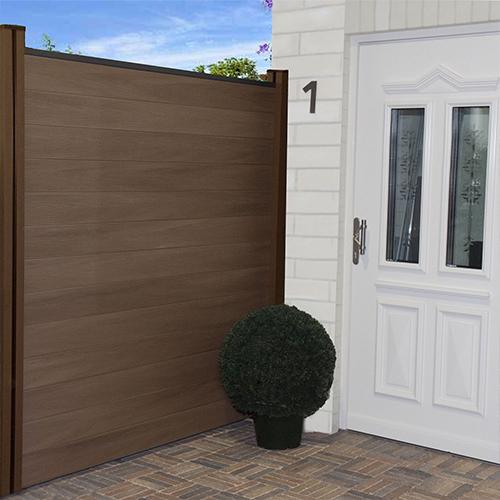 wpc zaun sichtschutz gartenzaun windschutz terrasse garten beton 180 x 180 cm ebay. Black Bedroom Furniture Sets. Home Design Ideas