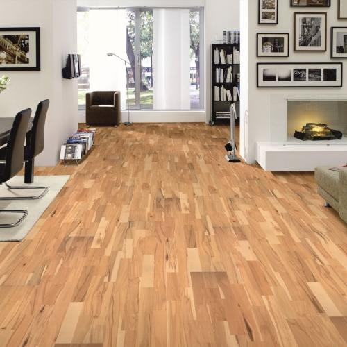 parkett buche schiffsboden 3 stab parkettboden mit fase d mmung sockelleisten ebay. Black Bedroom Furniture Sets. Home Design Ideas