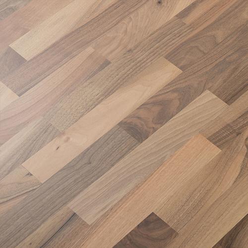 parkett nussbaum europ isch parkettboden mit fase d mmung und sockelleisten ebay. Black Bedroom Furniture Sets. Home Design Ideas