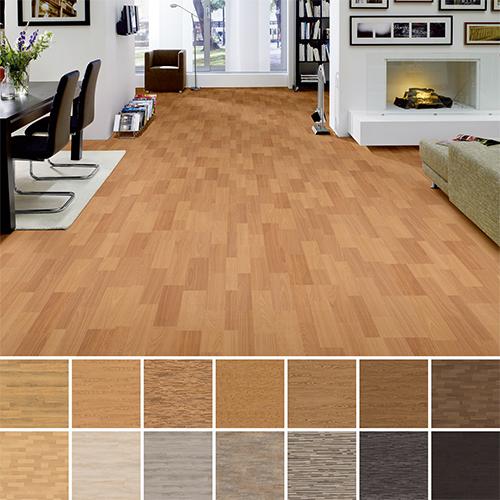 hori parkett parkettboden holz eiche various rustikal mit fase d mmung leisten ebay. Black Bedroom Furniture Sets. Home Design Ideas