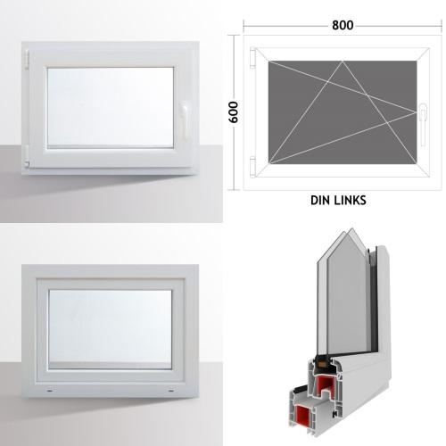 fenster kunststofffenster kellerfenster dreh kipp fenster 2 fach verglasung wei ebay. Black Bedroom Furniture Sets. Home Design Ideas