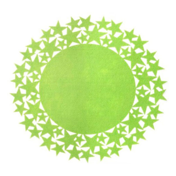 green felt star placemat