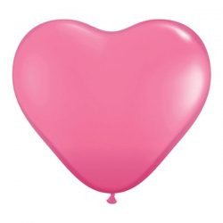 heart balloons rose