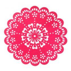 pink felt flower placemat