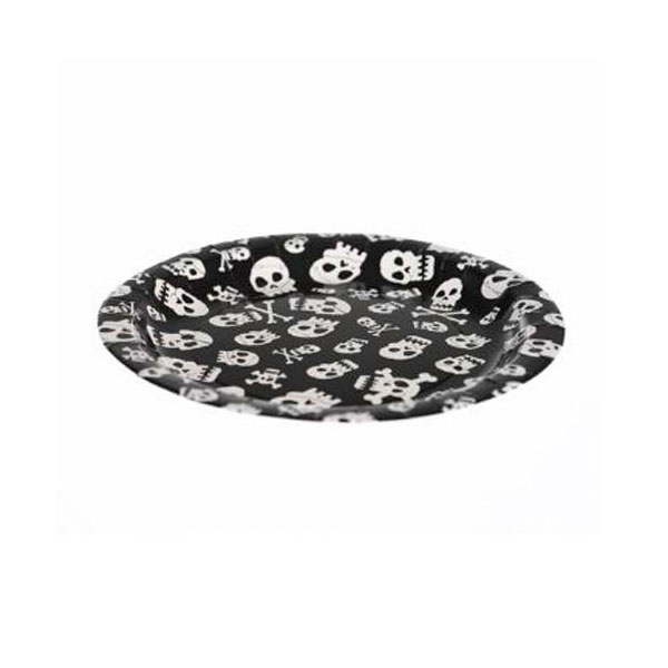pirate skull paper plates
