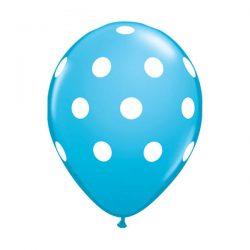 polka dot balloons blue