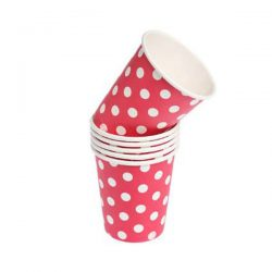 red spot paper cups
