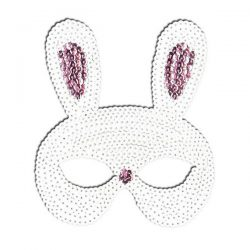 sequin rabbit mask