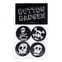 skull button badges
