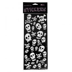 skull glitter stickers