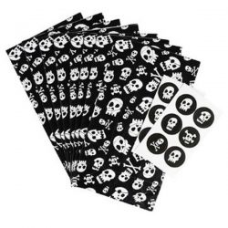 pirate skull party bags with stickers