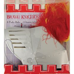brave knights party hats packaging