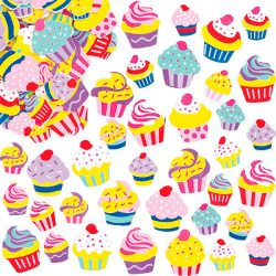cupcake stickers