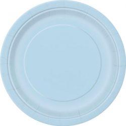 plain baby blue plates