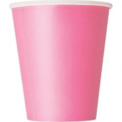 plain hot pink cups