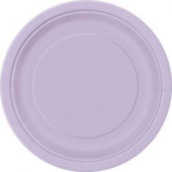 plain lavender plates