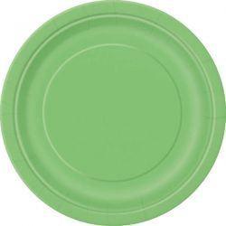 plain lime green plates