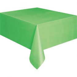 plain lime green table cover