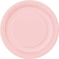 plain pastel pink plates