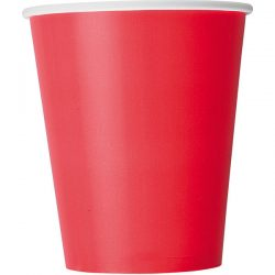 plain ruby red cups