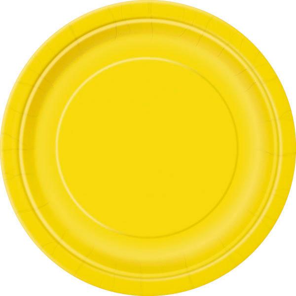 plain sunflower yellow plates