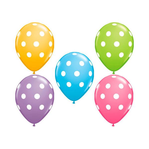 polka dot mixed balloons