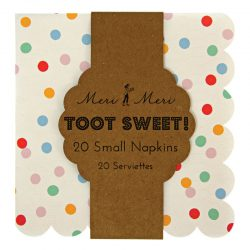 toot sweet small spotty napkins