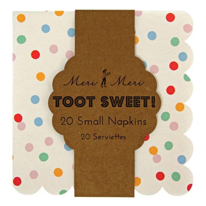 toot sweet small spotty napkins