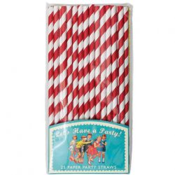 paper straws red stripe