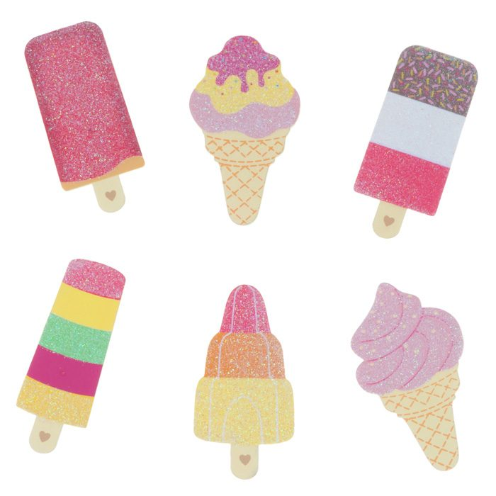 ice lolly magnetic pegs