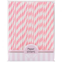 paper straws pink mix