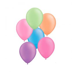 neon mixed balloons