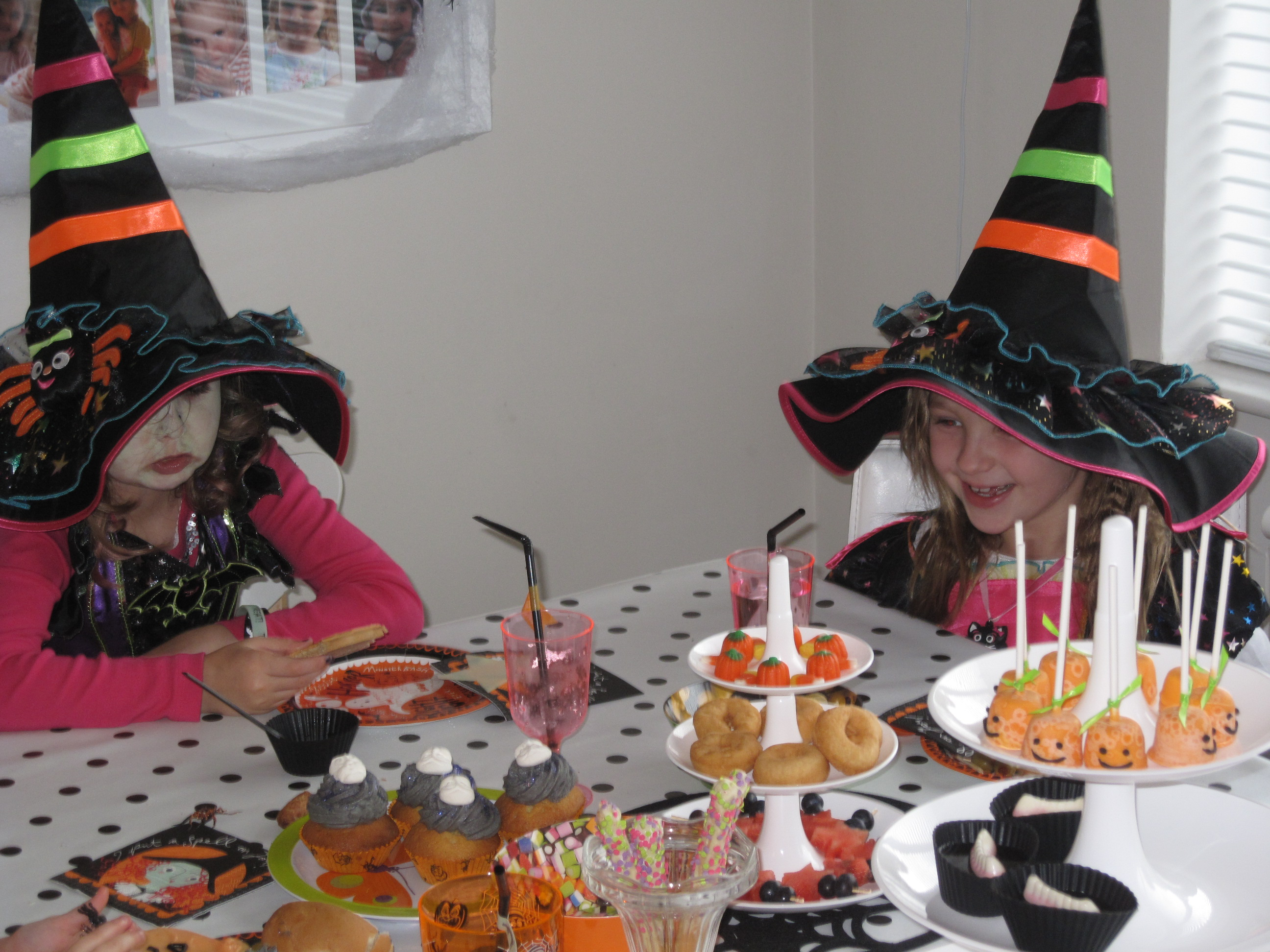 witches at halloween tea party