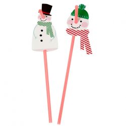 jingle all the way snowman straws