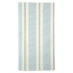 blue striped tablecloth