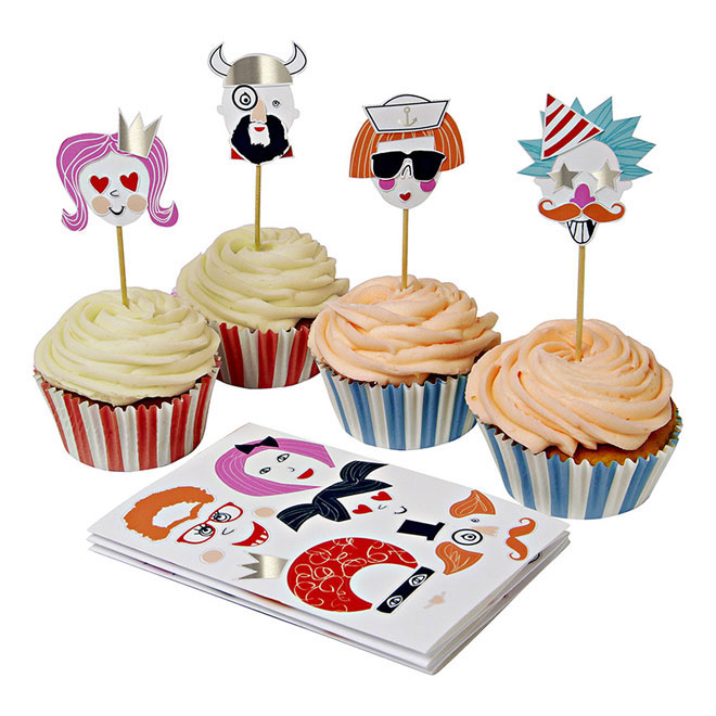 cupcake kit funny faces