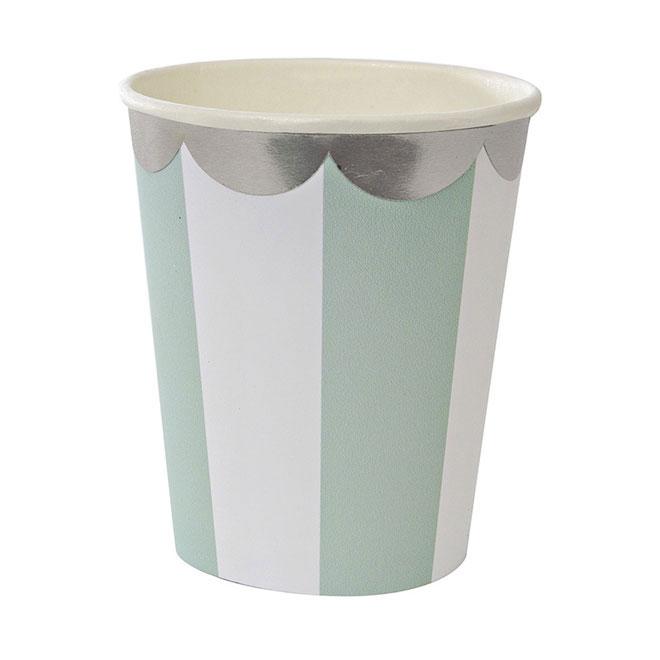 mint burst paper cups