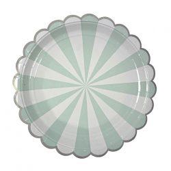mint burst paper plates