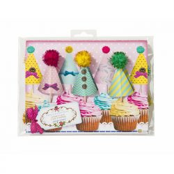 frills and frosting cake toppers packaging