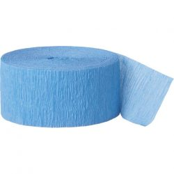 baby blue crepe paper party streamer