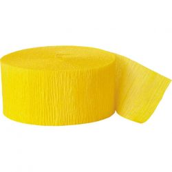hot yellow crepe paper party streamer