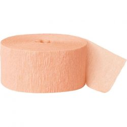 Coral crepe paper party streamer