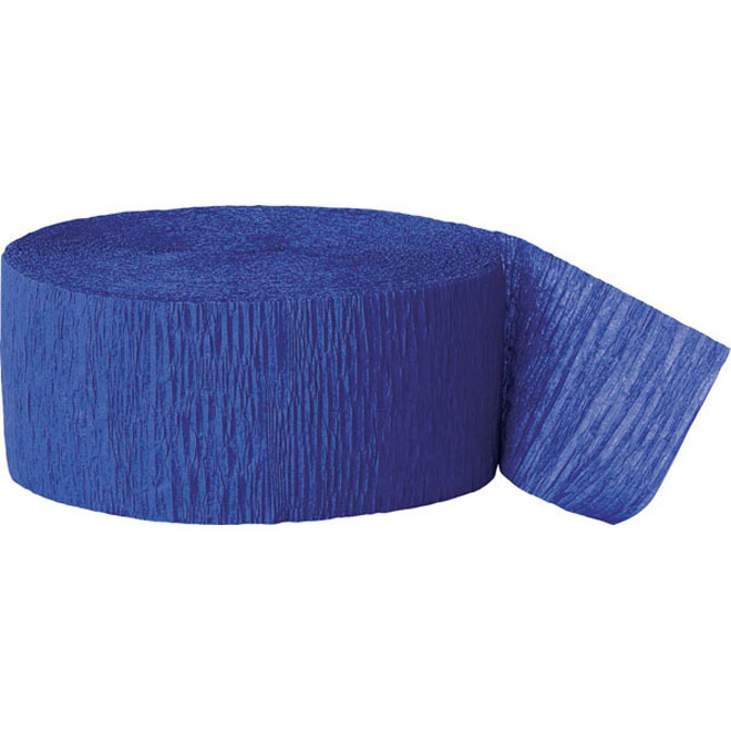 royal blue crepe paper party streamer