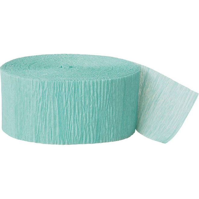 seafoam crepe paper party streamer