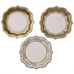party porcelain gold plates