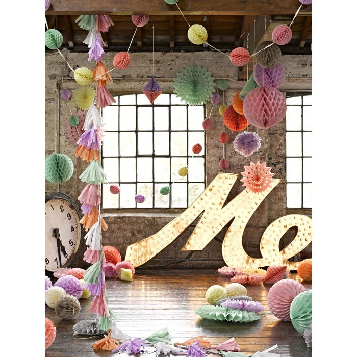 sorbet honeycomb party decorations